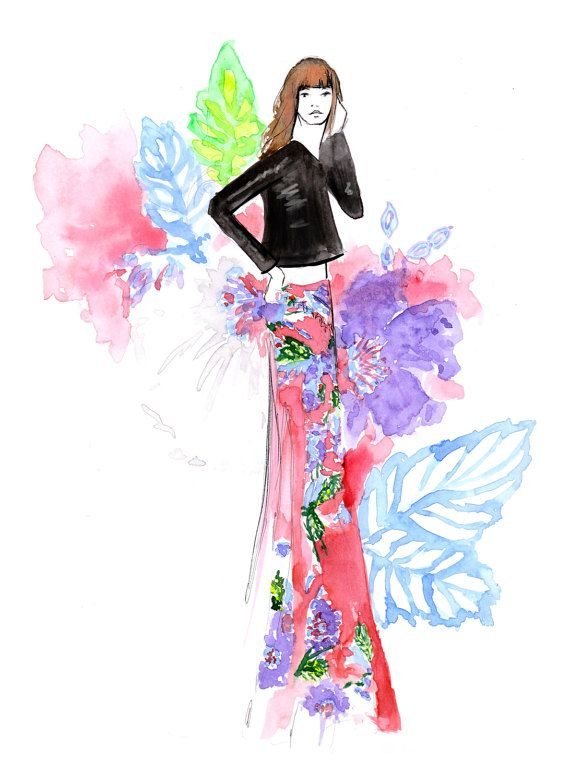 DVF Spring 2017 Fine Art Print by Stephanie Anne  Click link to shop!  www.stephanieanne.ca