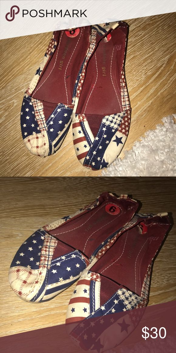 American flag print flats American flag printed flats. offers available! Madden Girl Shoes Flats & Loafers