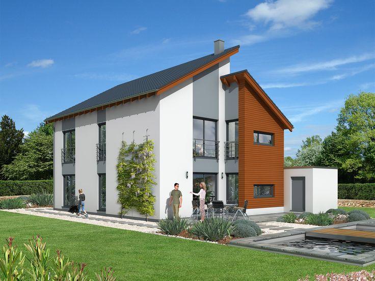 Beispielhaus 31.0 U2022 Bausatzhaus Von Ytong Bausatzhaus U2022 Massivhaus Mit Zwei  Versetzt Angeordneten Baukörpern, Pultdach