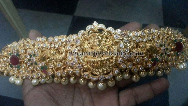 1 Gram Gold Pachi Work Vaddanam Sets