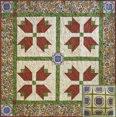 Tulip Time Quilt Pattern Free Quilt Patterns Pinterest