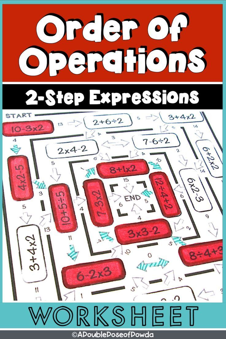 Order Of Operations Worksheet Level 1 Distance Learning For Packets Order Of Operations Elementary Math Centers Worksheets [ 1104 x 736 Pixel ]
