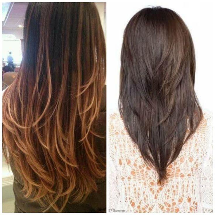 17 mejores ideas sobre cortes de cabello en capas en - Ideas para peinar cabello largo ...