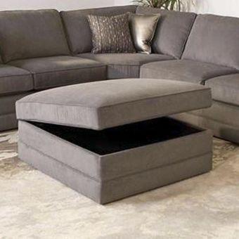 Storage Ottoman in Gray   Nebraska Furniture Mart