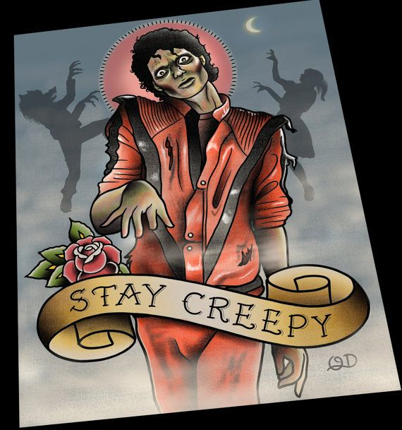 Michael Jackson Thriller Tattoo Flash by ParlorTattooPrints