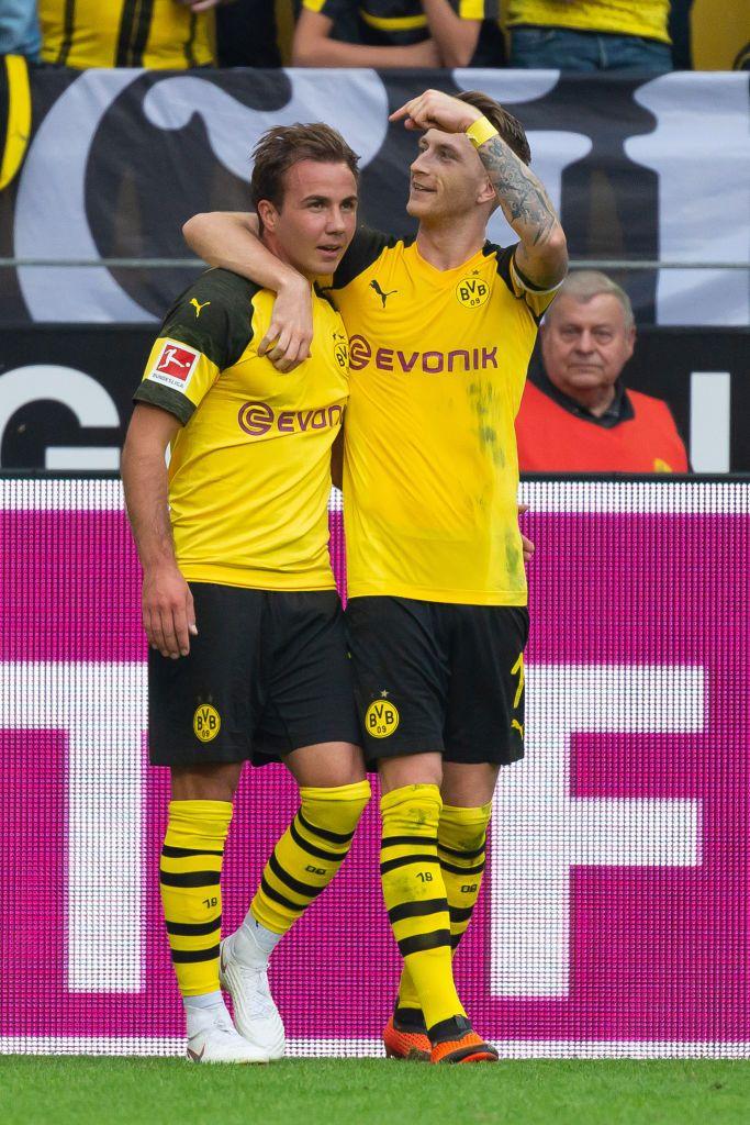 Dortmund Germany October 06 Mario Goetze Of Borussia Dortmund Celebrates After Scoring His Team S Third Goal With Ma Borussia Dortmund Mario Gotze Dortmund