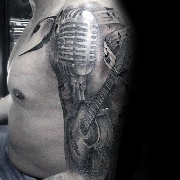 Music Tattoo Half Sleeve Designs