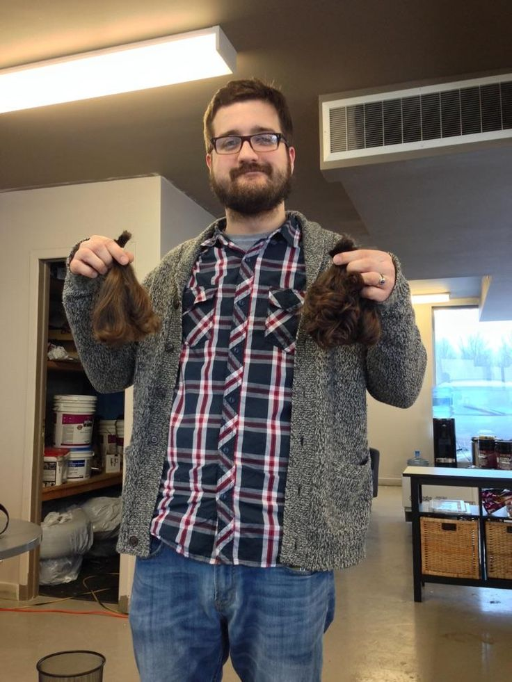Our Marketing Guy cut off ALL his hair for a good cause!!