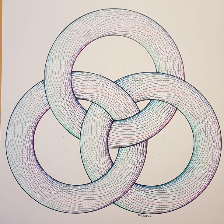 #torus #geometry #symmetry #pattern #triangle #handmade #ink #tusche #mathart #regolo54