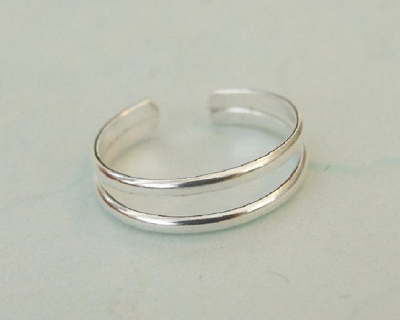 Sterling Silver Toe Ring Sterling Silver by MYJewelryEtsyShop                                                                                                                                                                                 More