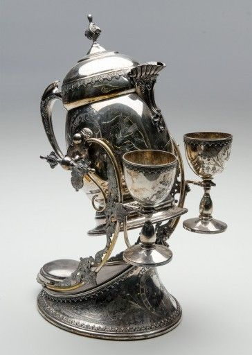 Wilcox Silver Plate Co., Samovar on Fitted Stand with Goblets, Late 19th Century on Paddle8