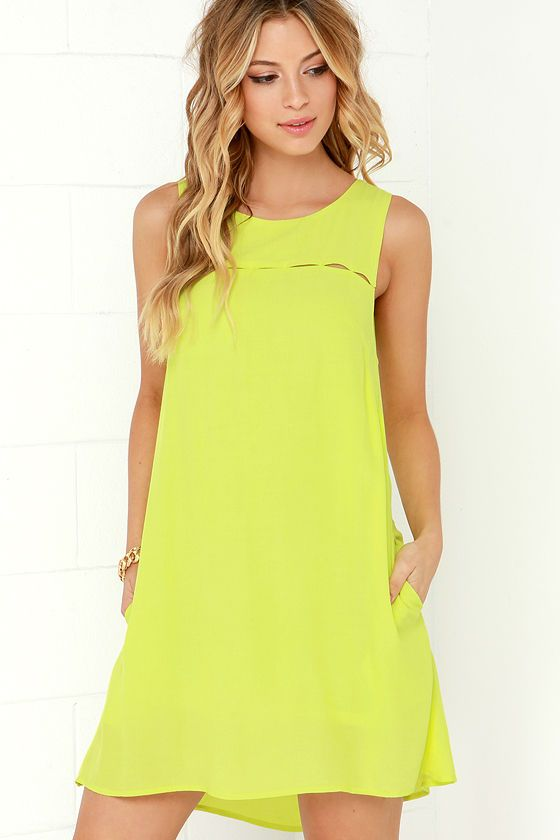 Break the Spell Chartreuse Dress at Lulus.com!