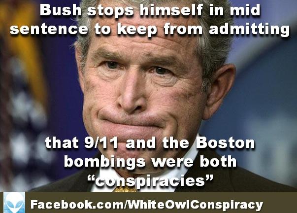 George W Bush Practically Admits 9/11 was a 'Conspiracy' Plot http://www.youtube.com/watch?v=jpMzkIR1ymw=youtu.be