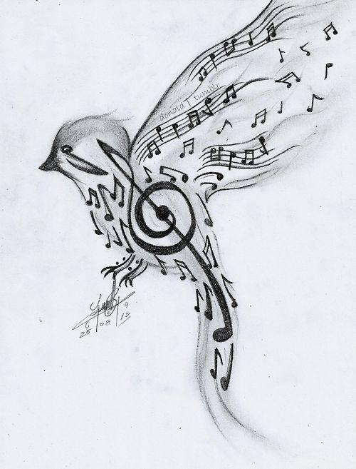 dibujos musica a lapiz - Buscar con Google: