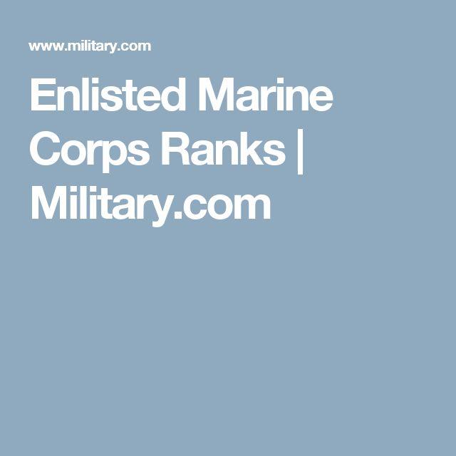 Enlisted Marine Corps Ranks | Military.com