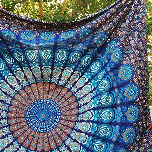 Handmade Mandala Tapestry Gypsy Hippie Bedding Bohemian Ethnic 84 X 90 Inches (Large Queen Size ) Blue Handmade http://www.amazon.com/dp/B013K7V2ZQ/ref=cm_sw_r_pi_dp_dRl2wb1ZTNWXF