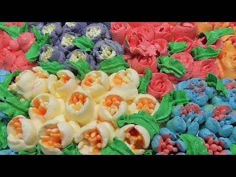 Rosyjskie tylki do tortöw Tulipany /dekoracja tortu/Russian Piping Tipa  /Kasia ze slaska gotuje - YouTube