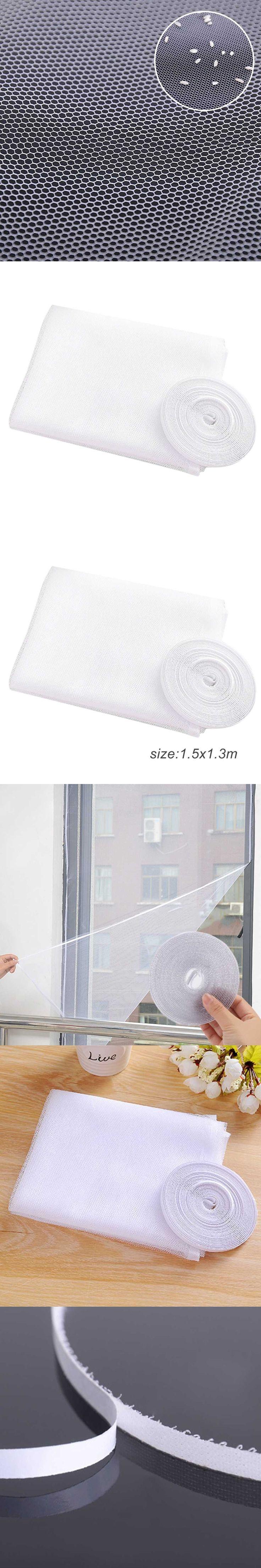 1.5*1.3 M Window Door Screen DIY Flyscreen Curtain Insect Screen Fly Mosquito Bug Window Door Mesh Screens Home Kitchen Use