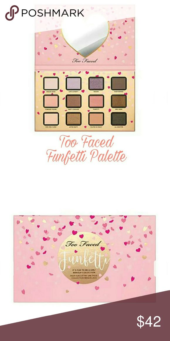 TOO FACED Funfetti LMT Eyeshadow Palette New LMT Eyeshadow Palette. Brand new never used. Beautiful new colors that compliment every eye color. Please let me know if you have any questions. 30% discount when using the bundle feature. No trades! Price firm due to the huge bundle discount. If you wish to purchase without bundling I'm willing to consider reasonable offers. My counter is final. Happy Poshing! Too Faced Makeup Eyeshadow