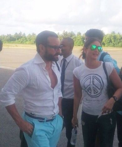 Saif Ali Khan, with wifey Kareena Kapoor and other family members, was at Maldives having a fun time. But looks like that vacation time is over for the Khan-Pataudis!