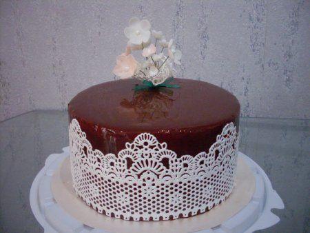 Блестящая глазурь для торта из какао