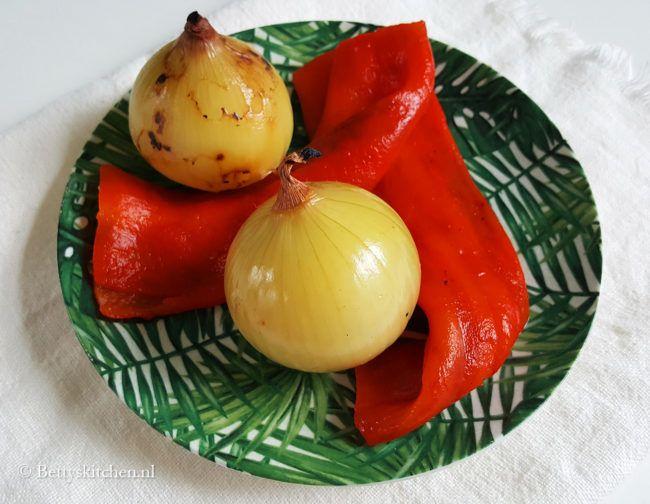 How-to: uien en paprika roosteren