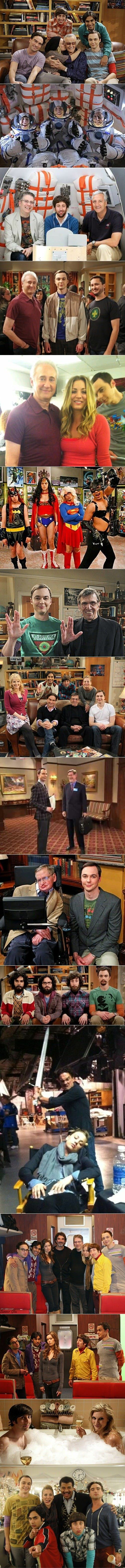 The Big Bang Theory and their geek royalty guest stars