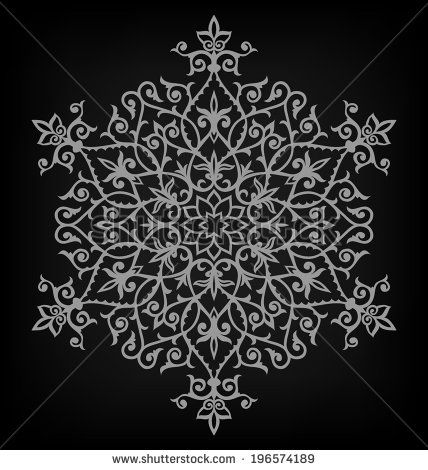 arabesque pattern mandala vector illustration stock vector pinterest. Black Bedroom Furniture Sets. Home Design Ideas