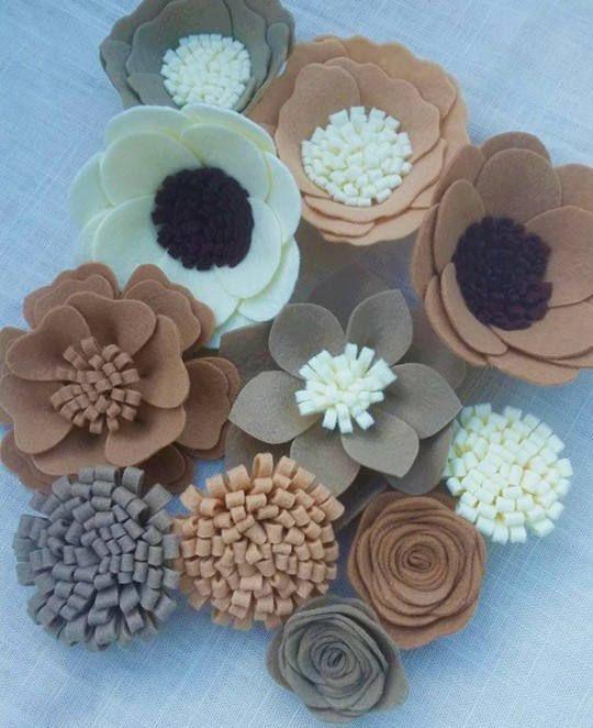 @fiori lana feltro fiori abbellimento del feltro feltro