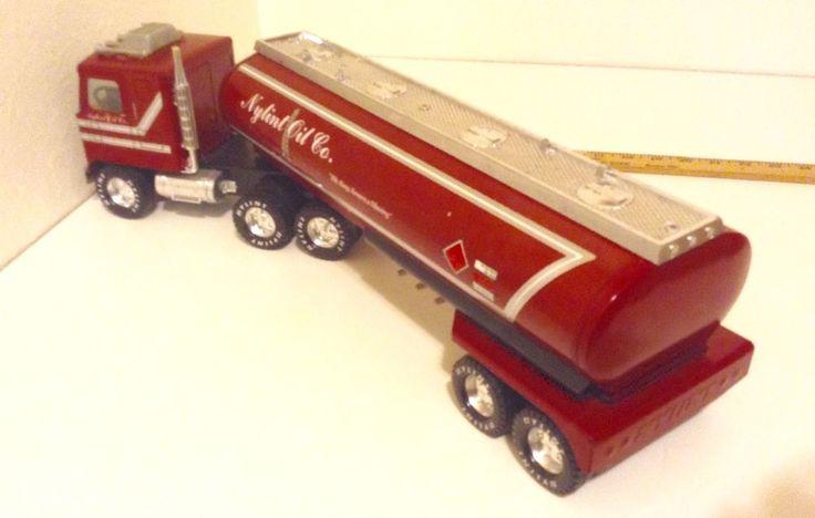 Nylint Oil Tanker Semi Trailer Truck GMC Original Pressed Steel  | eBay