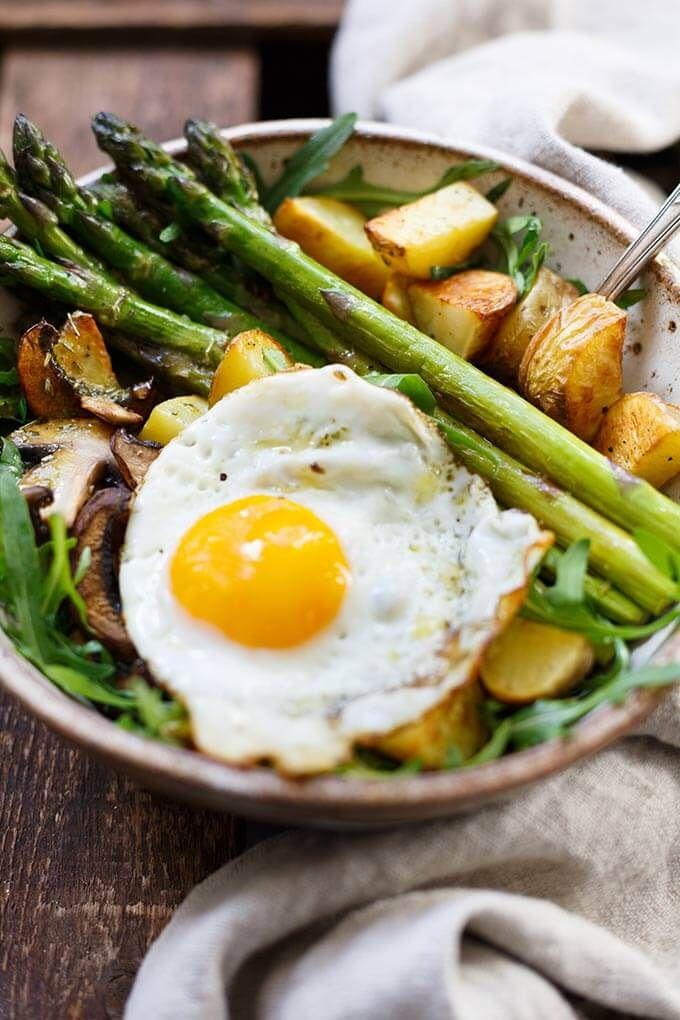 Oh mein Gott, die Kartoffel Spargel Power Bowl ist so gut! Diese einfache und gesunde Re …   – Rezept Ideen | Food Inspiration