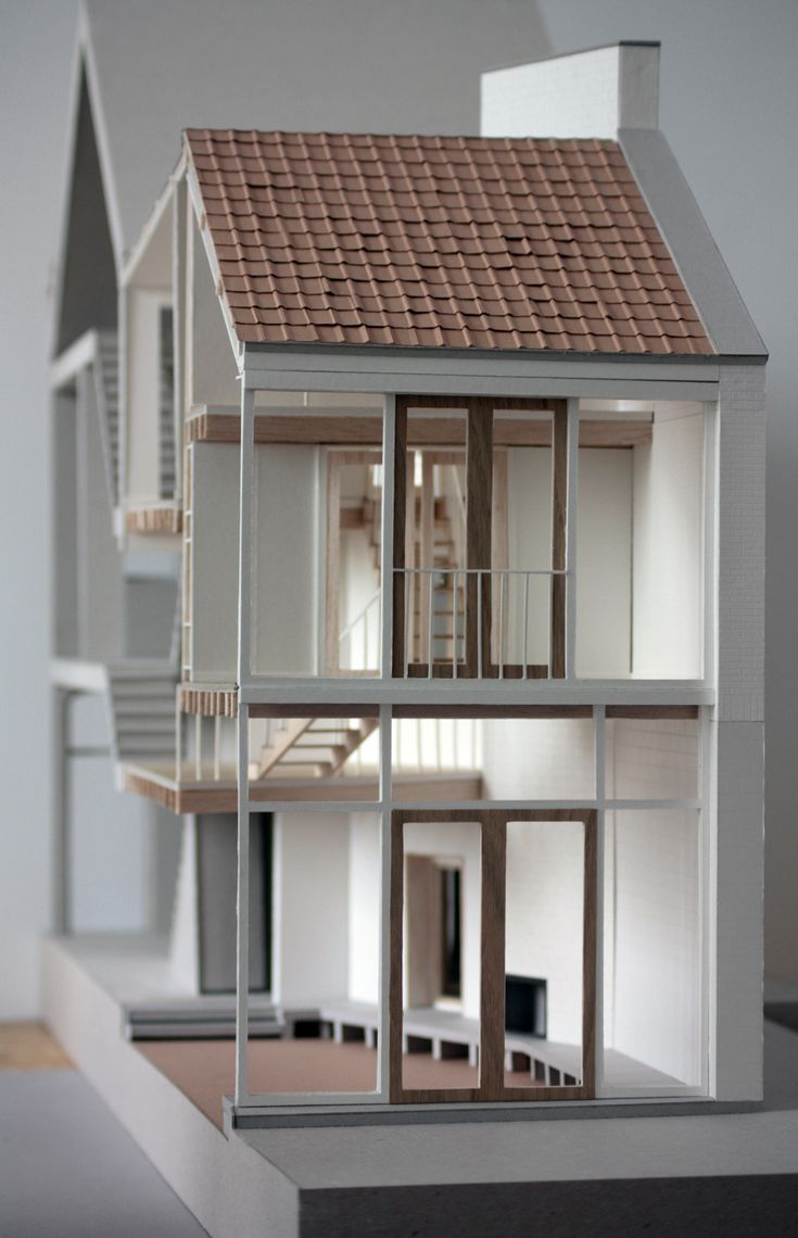 (model) Bovenbouw > House extension, Mortsel | HIC Arquitectura