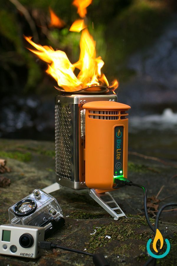 The BioLite CampStove cooks your meals and charge your gadgets using only sticks and twigs.
