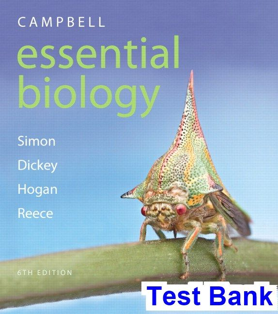 Campbell Essential Biology 6th Edition Simon Test Bank