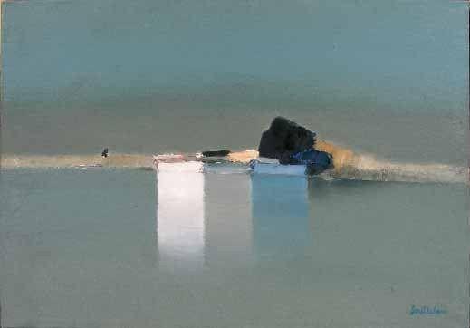 Trois barques sur le Canal par Pierre Doutreleau