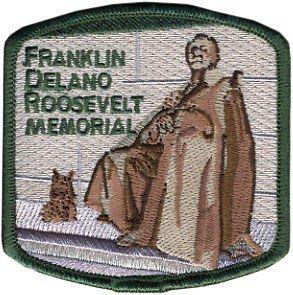 Franklin Delano Roosevelt Memorial Embroidered Patch