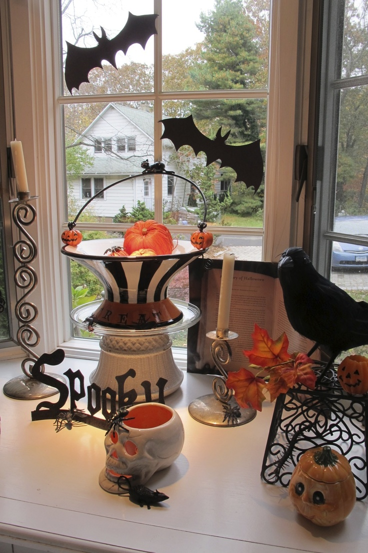 13 best Autumn Window images on Pinterest Halloween decorating - Window Halloween Decorations