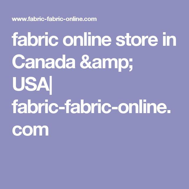fabric online store in Canada & USA| fabric-fabric-online.com