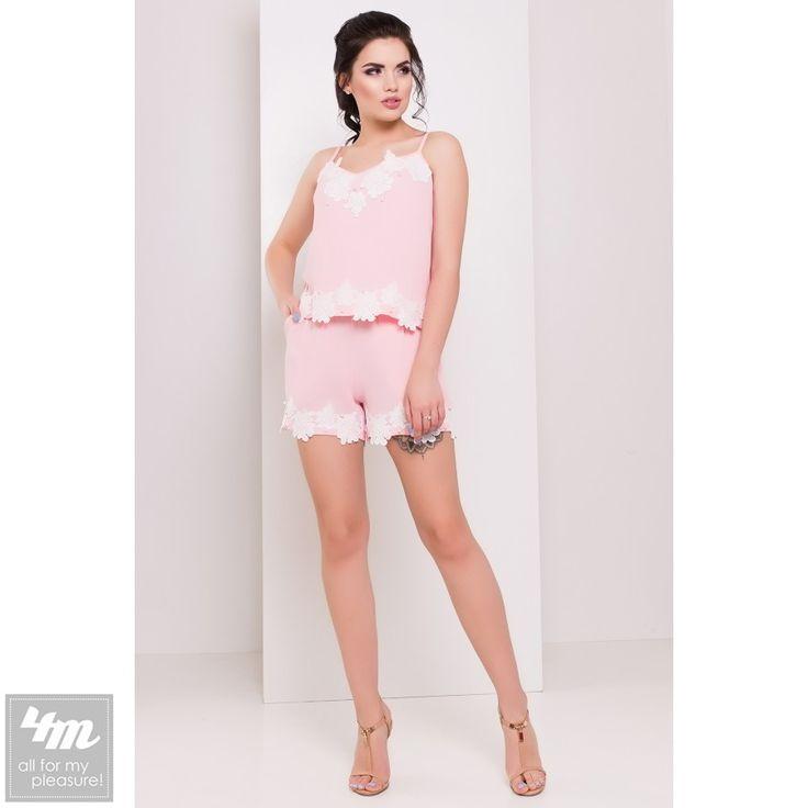 Комбинезон Modus «Брайт 3156» (Розовый) http://lnk.al/4Hft  Все модницы знают что при помощи комбинезона очень легко создать оригинальный и стильный образ. Роскошный комбинезон Брайт декорирован кружевом и россыпью жемчуга, благодаря чему в нем можно отправиться как на вечеринку, так и на отдых. Данный комбинезон визуально вытянет силуэт и поможет скрыть недостатки фигуры.   #комбинезон #комбинезоны #комбинезонкиев #комбинезончик #комбинезонлетний #комбинезонукраина #комбинезонвналичии…