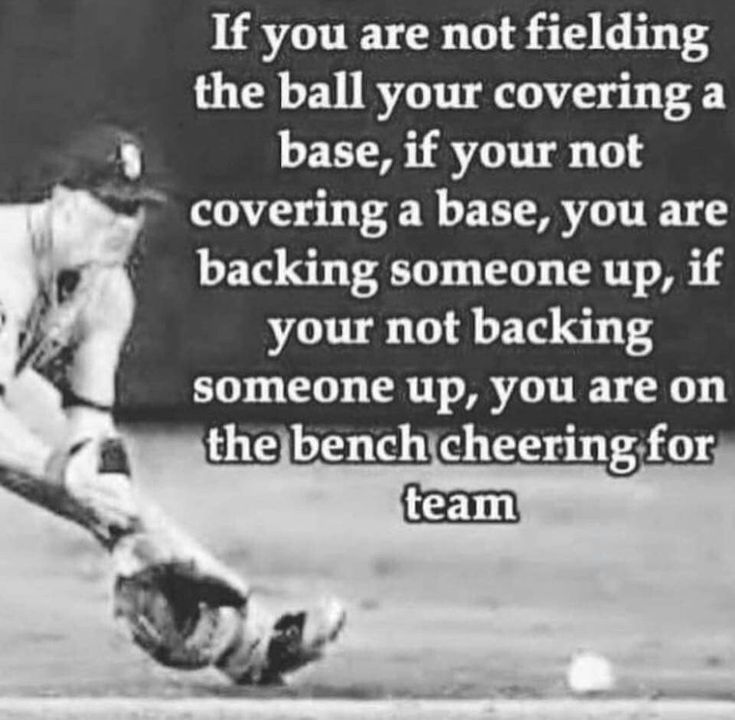 I absolutely love this quote! It's perfect for any situation, even outside of a softball field ❤️ #BaseballBoys