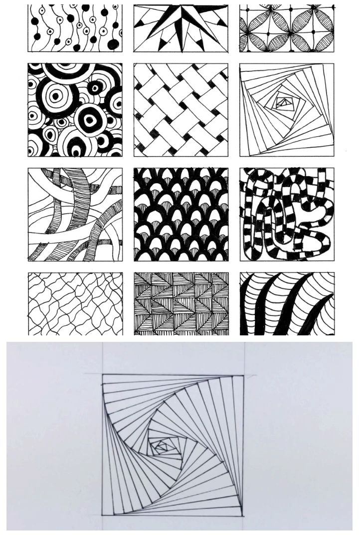 Inspired By Zentangle Patterns And Starter Pages Of 2020 Video