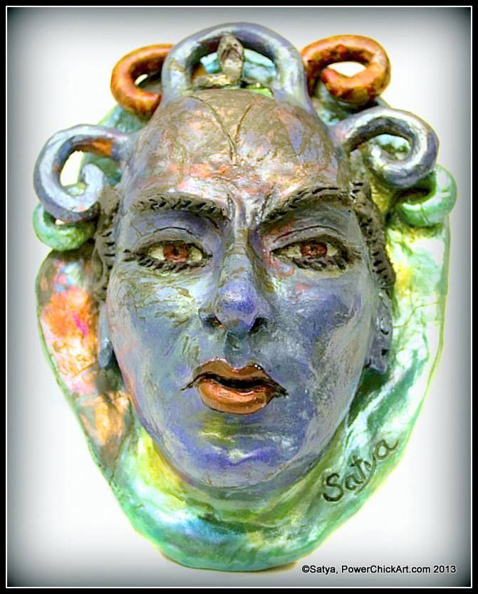"""Resentment"" ~ Raku ceramic wall hanging~ http://www.facebook.com/PowerChickArt ~Kindly ""like"" Do you think this quote is still accurate? ""Women are often expected to be more amiable, more pleasing or more submissive than men."" ~ Maria Doyle Kennedy~ Remember, if anger is suppressed, it turns to resentment. Art is a great way to express! Art to Empower women @ http://PowerChickArt.com/"