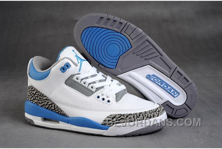 Nike Jordan 3 Retro Shoes(White/Sky Blue/Grey) air jordan III is popular  among the young.This nike air jordan shoes is your best choice in my mind.