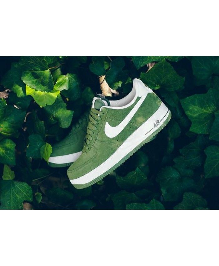 8585cfbd717 Nike Air Force 1 Low Palm Green Suede Trainers