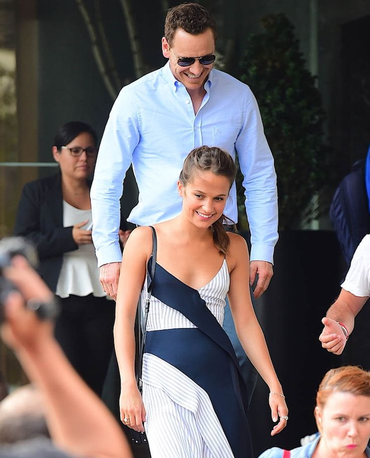 Alicia Vikander and Michael Fassbender promote The Light Between Oceans together…
