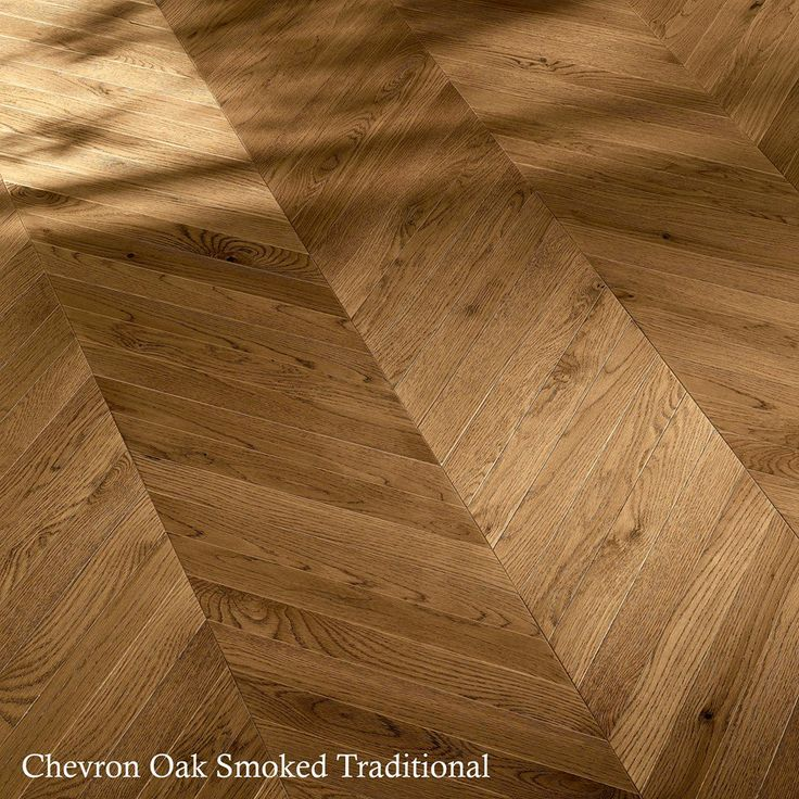 Add modern flair to your living space or bedroom with the Chevron Oak Smoked Traditional.