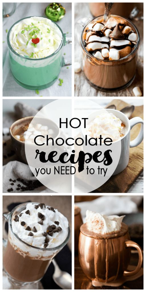 Nothing warms you up more on a cold winter day than a delicious cup of hot chocolate. With an abundance of recipes at your fingertips you can probably try out a new recipe everyday for the entire wint
