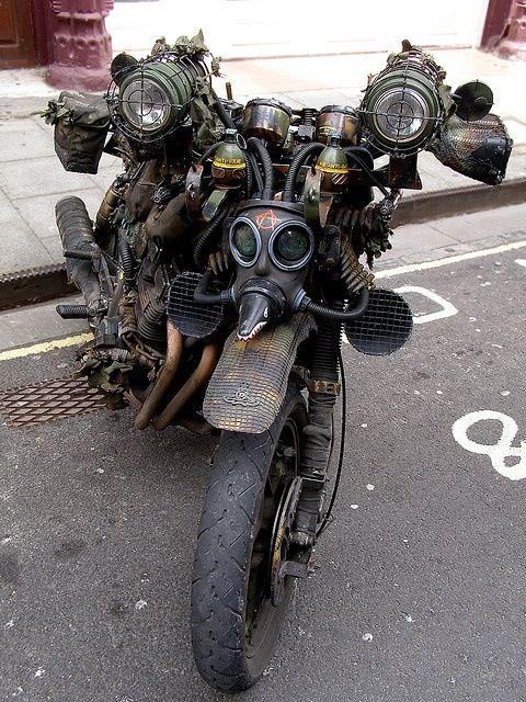 Steam punk motorcycle.