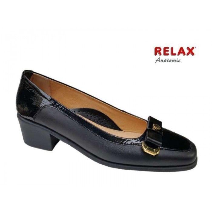 Relax anatomic 5137-13 Μαύρο δέρμα νάπα