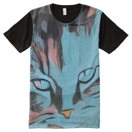 My cats eyes full print Tshirt - click/tap to personalize and buy
